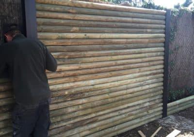 Création mur en rondin BGP Paysagiste à proximité d'Avignon