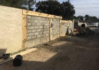 Mur et dalle BGP Paysagiste Villeneuve les Avignon
