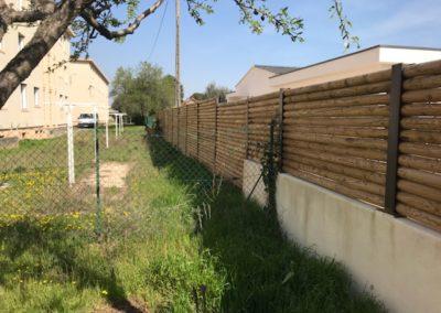 Création mur en rondin Paysagiste à Saint Rémy de Provence